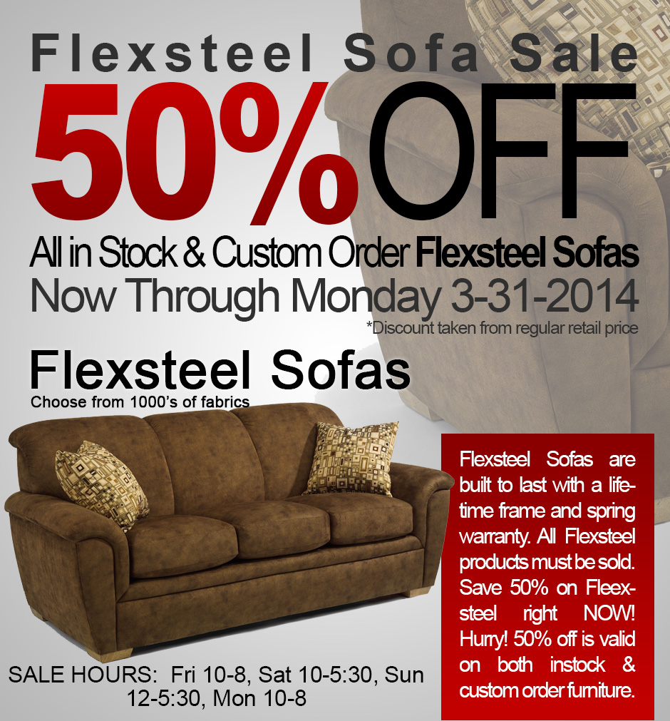 Come and Shop 50 off Flexsteel Sofas St Louis Leather Furniture