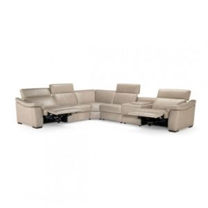 St Louis Leather Reclining Sectional