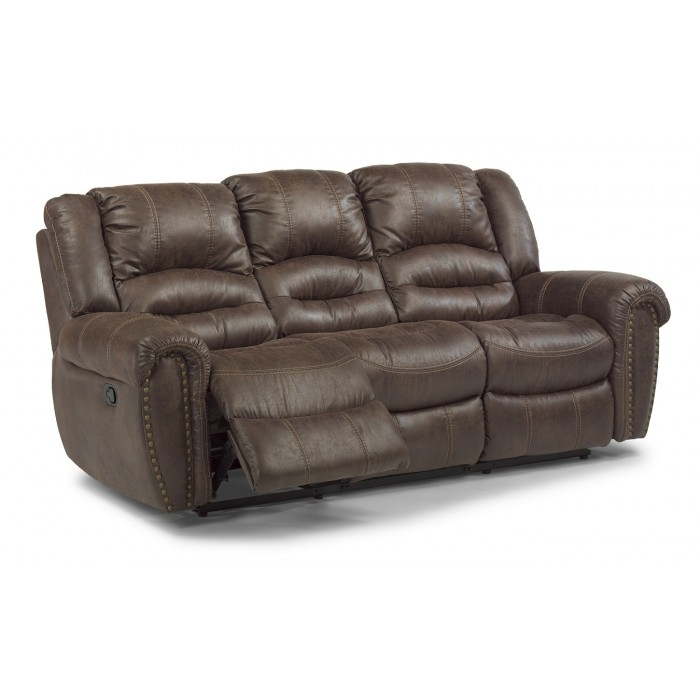 Leather Flexsteel Sofa near Mt. Vernon, IL