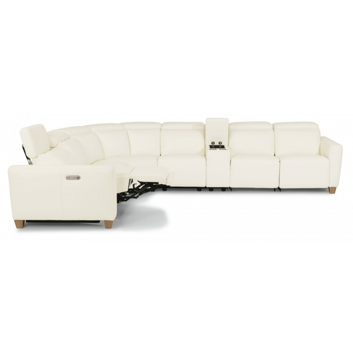 Leather Flexsteel Sectional St. Louis