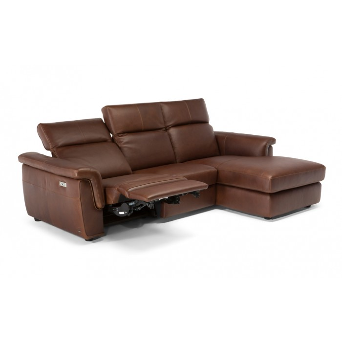 St. Charles, MO, Leather Reclining Sofa