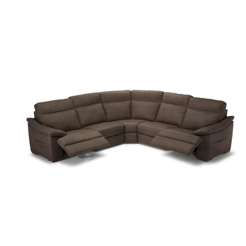Granite City Leather Reclining Sectional