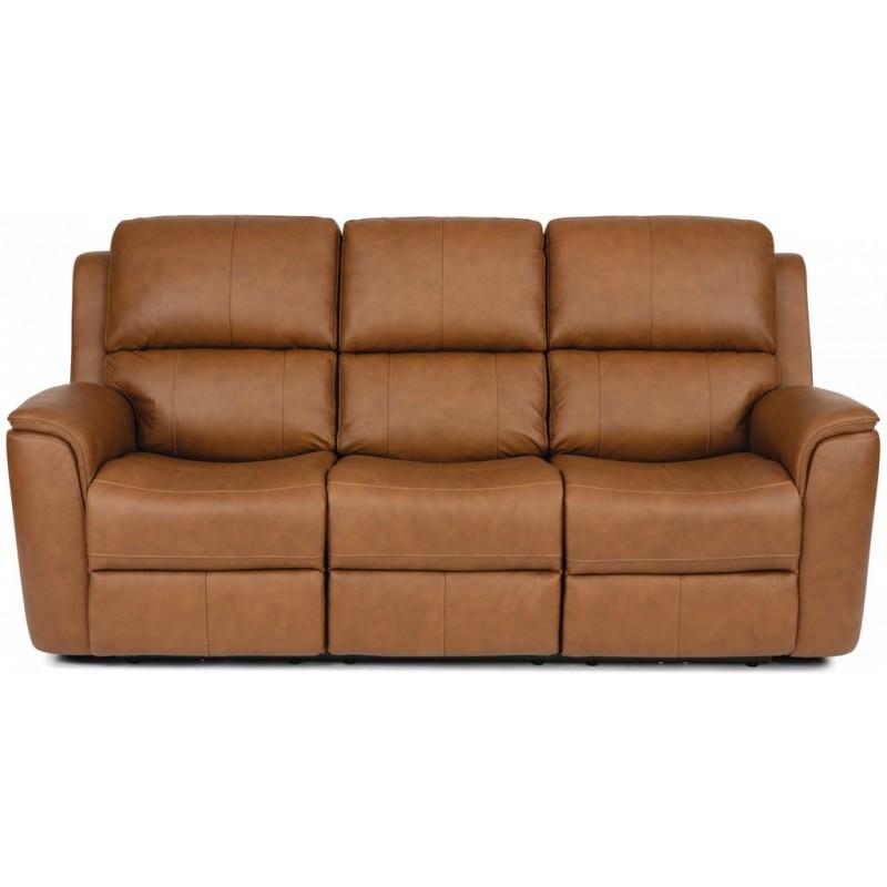 St. Louis Leather Flexsteel Sofa